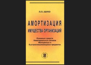 Списание МБП по Щуко
