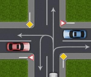 Главная дорога на перекрестке