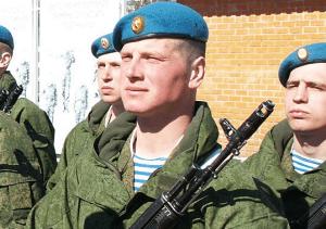 Контрактники в российской армии