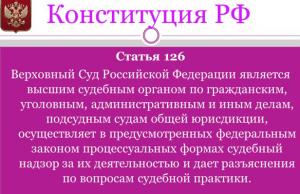 126 статья Конституции РФ