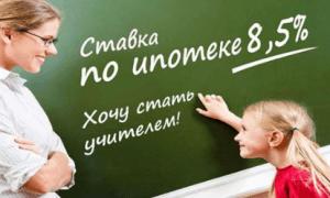 Ставка по ипотеке для молодых учителей