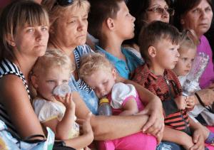 Беженцы из Украины с детьми