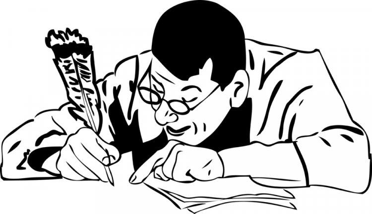 Человек пишет прошение