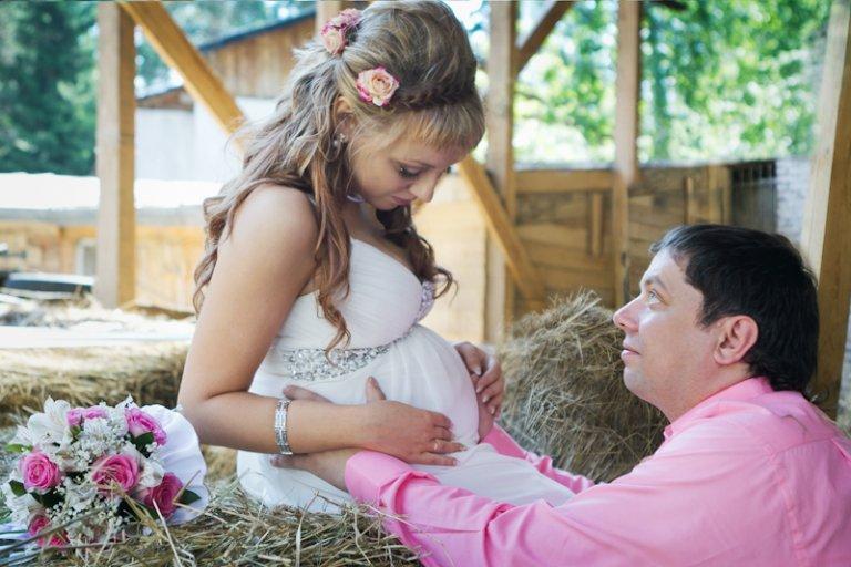 Невеста на свадьбе сказала что беременна 65