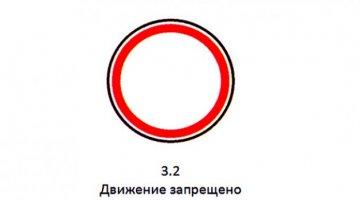 Знак Движение запрещено