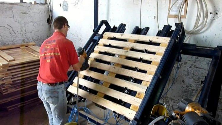 Производство европоддонов в гараже