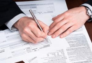 Заполнение документов на уплату налога