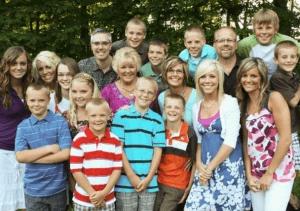 Счастливая многодетная семья