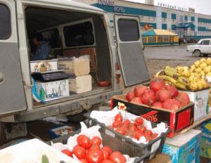 Незаконная торговля на улице