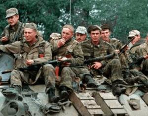 Военнослужащие в горячей точке